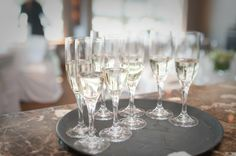 Sunshine Coast BC wedding, design and decor by Coastal Weddings www.coastalweddings.ca Sunshine Coast Bc, Pinwheels, Coastal, Champagne, Weddings, Table Decorations, Design, Home Decor, Decoration Home