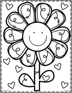 flower Page Printable Coloring Sheets | page, Flowers ...