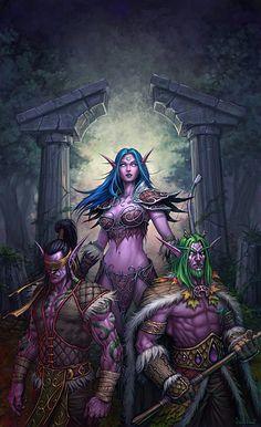 World of Warcraft - Illidan Stormrage, Tyrande Whisperwind and Malfurion Stormrage