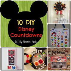 10 Easy DIY Disney Vacation Countdowns - My Favorite Finds Disney 2015, Disney Diy, Disney Crafts, Disney Dream, Disney Love, Disney Stuff, Disney Vacation Planning, Disney Vacations, Disney Cruise