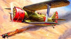 -153, war, soviet, polikarpov, art, seagull, the sky wallpaper