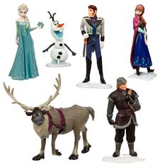 6 PCS Frozen Toy Figures Playset: Elsa Anna Kristoff Olaf Hans Cake Toppers Gift in Toys & Hobbies, TV & Movie Character Toys Elsa And Hans, Frozen Elsa And Anna, Elsa Anna, Anna Kristoff, Elsa Olaf, Disney Frozen Crafts, Frozen Birthday Party, Frozen Party, Frozen Cake
