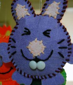 Conejo para móvil de cuna en paño lency