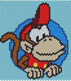 Donkey Kong Jr. - 55 Columns X 48 Rows - Peyote / Brick Stitch ,Pattern by me, Man in the Book