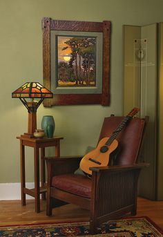 Jan Schmuckal - Work Zoom: Evergreen Towers. I would love to sit in that chair in that room listening to soft music and reading a great book.
