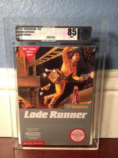 Lode Runner Factory Sealed VGA 85 NES Sealed Nintendo Rare Silver Grade!!