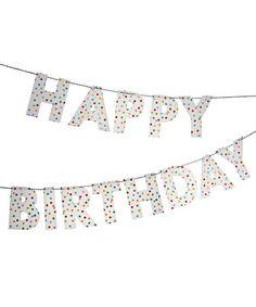 Look what I found on #zulily! Toot Sweet Spotty 'Happy Birthday' Garland #zulilyfinds