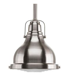 Progress Lighting Fresnel Brushed Nickel Transitional Clear Glass Dome Pendant Light at Lowe's. The Fresnel one-light mini-pendant has an antique-inspired Fresnel glass lens, industrial roots in form and function. Brushed Nickel Pendant Lights, Mini Pendant Lights, Pendant Light Fixtures, Pendant Lighting, Task Lighting, Light Pendant, Vanity Lighting, Lighting Ideas, Modern Lighting