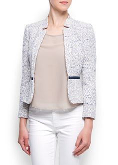 MANGO - Boucle blazer