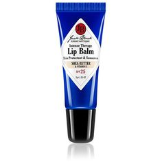 Jack Black Intense Therapy Lip Balm Spf 25 Shea Butter & Vitamin E (€6,67) ❤ liked on Polyvore featuring beauty products, skincare, lip care, lip treatments, no color and jack black