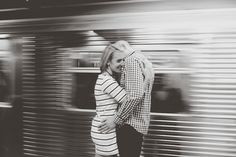 Amy + Chris by Chellise Michael, Waiting for the A train - NYC