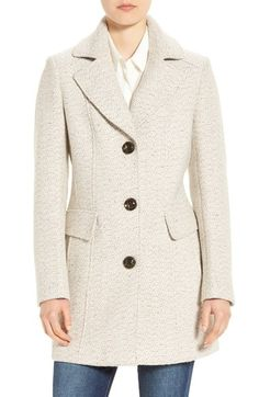 Gallery Notch Collar Tweed Coat (Regular & Petite) available at #Nordstrom