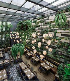 Home Decoration Ideas For Wedding is part of Bar design restaurant - Bar Design, Coffee Shop Design, Design Hotel, Deco Restaurant, Outdoor Restaurant, Interior Garden, Restaurant Interior Design, Bar Vintage, Boho Home