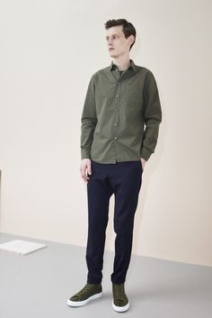 Filippa K Man AW15, a green & blue combination for fall winter 2015
