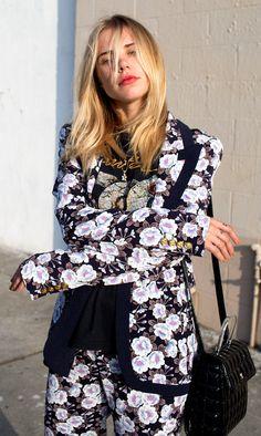 Smyth Floral suit and Courrege bag