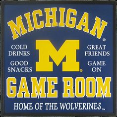 University of Michigan Game Room Sign by cwfreitas on Etsy, $50.00