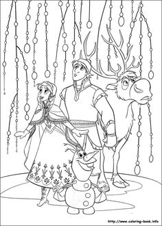 Disney Frozen coloring picture