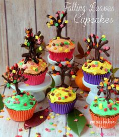 Pint Sized Baker: Falling Leaves Cupcakes for Simply Create