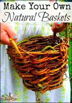 The Ultimate Nature Upcycle is part of Basket weaving - Make your own plant pots and baskets from natural materials with this simple tutorial they make lovely gifts, too! Willow Weaving, Basket Weaving, Weaving Looms, Fall Crafts For Adults, Crafts For Kids, Upcycled Crafts, Mason Jar Crafts, Mason Jar Diy, Crafts To Sell