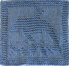 Ravelry: DOLPHIN - Cloth or Blanket Square Knitting Pattern - PDF pattern by Ezcareknits