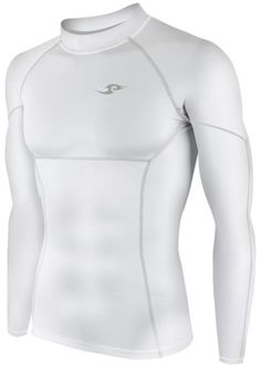 New 009 Take Five Skin Tight Compression Base Layer White Running Shirt Mens S - Xl (L) - http://ridingjerseys.com/new-009-take-five-skin-tight-compression-base-layer-white-running-shirt-mens-s-xl-l/