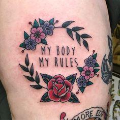 12 Feminist Tattoos That Celebrate Lady Power - Brit + Co Body Art Tattoos, Small Tattoos, Sleeve Tattoos, Ankle Tattoos, Feminist Tattoo, Tatuaje Old School, Power Tattoo, Tattoo Feminina, Symbolic Tattoos