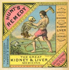 Why aren't there more images of people wrestling Death on medical packaging these days? Why aren't there more images of people wrestling Death on medical packaging these days? Vintage Labels, Vintage Ads, Vintage Images, Vintage Prints, Vintage Posters, Weird Vintage, Vintage Packaging, Vintage Ephemera, Vintage Stuff