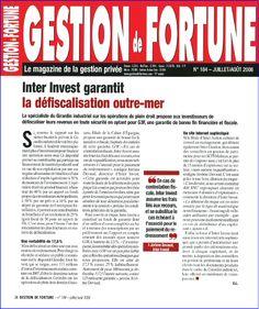 Inter Invest dans Gestion de Forune le magazine de gestion privé