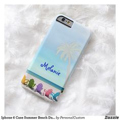 Shop Iphone 6 Case Summer Beach Days DESIGN created by PersonalCustom. Custom Iphone Cases, Iphone 6 Cases, Diy Phone Case, New Iphone, Beach Day, Summer Beach, Cell Phone Covers, Phone Photography, Smartphone