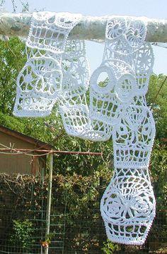 Tótem Day Of The Dead Or Halloween Irish Crochet by spidermambo, $50.00