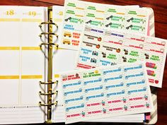 72 School Year Stickers with option to customize for Erin Condren Life Planner and Plum Paper Planner! (9.00 USD) by MareBearCrafts