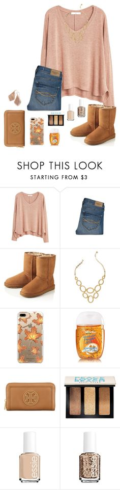 """Fall!!!!🍁🍂"" by kat-prepster ❤ liked on Polyvore featuring MANGO, Abercrombie & Fitch, UGG Australia, Lilly Pulitzer, Casetify, Tory Burch, Bobbi Brown Cosmetics, Essie and Kendra Scott"