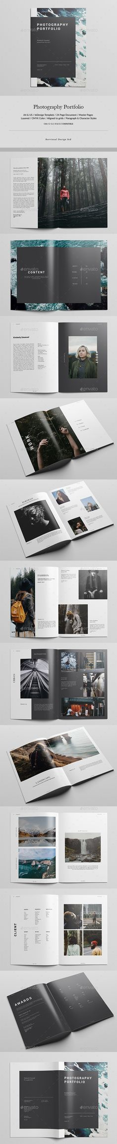 Photography Portfolio — InDesign INDD #editorial design #us letter • Download ➝ https://graphicriver.net/item/photography-portfolio/19746744?ref=pxcr