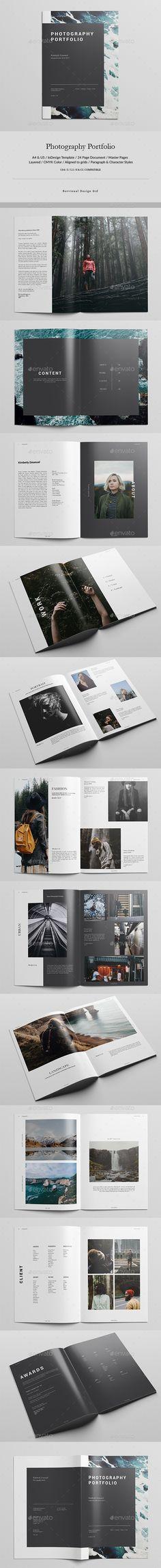 Photography Portfolio — InDesign INDD #editorial design #us letter • Download ➝ https://graphicriver.net/item/photography-portfolio/19746744?ref=pxcr