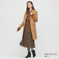 WOMEN CASHMERE BLEND CHESTER COAT, BEIGE