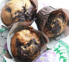 Pumpkin Chocolate Swirl Muffins  They are so pretty that I don't think anyone even waited until they...