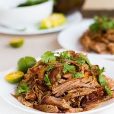 Crockpot Carnitas I did the recipe with these changes only. I used juice of 1 fresh orange. Additions**1/2 tsp. smoked paprika, a roughly chopped medium sized onion which I placed on bottom of crockpot,1/4 c. water. Decreases**The beer(a dark one)down to 8 oz., cayenne pepper to 1/4 tsp., the salsa Frontera double roasted tomato - 1/4 c., kosher salt 1 tsp. Did not use chipotle hot sauce.