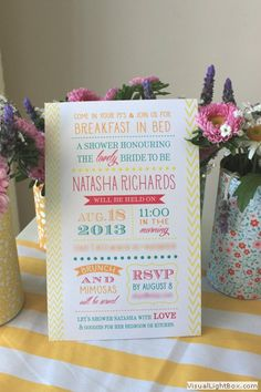 A little far fetched to have everyone come in their pj's but really cute idea to have a brunch shower!