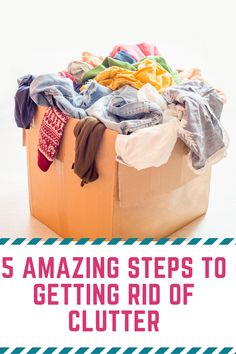 Feeling overwhelmed and discouraged by your home? Don't feel that way any longer with these 5 simple steps to finally getting rid of clutter Declutter Bedroom, Declutter Your Home, Organizing Your Home, Getting Rid Of Clutter, Getting Organized, Simple House, Clean House, Bathroom Storage Solutions, Housekeeping Tips