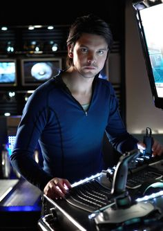 Andrew Lee Potts as Connor in Primeval. He's scaring me a little...not gonna lie.