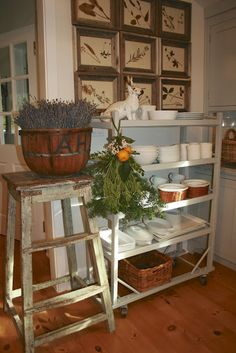 Vintage Kitchen Cart Roundup  at Second Shout Out