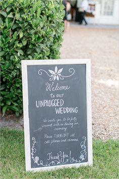 unplugged wedding sign @weddingchicks
