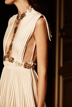 The house showed magical spring/summer 2016 looks, heavily infused with Greco-Roman influences — but no shoes.