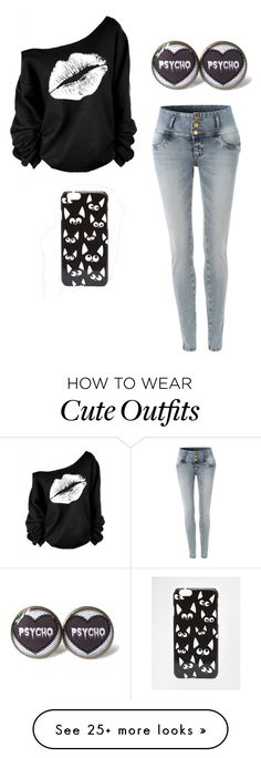 """""""Outfit 103"""" by derpygurl on Polyvore featuring moda, LE3NO y ASOS"""