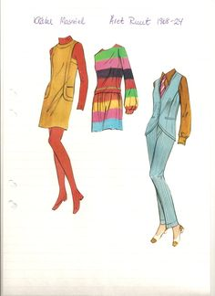 Swedish paper doll of Massiel's clothes, 1968