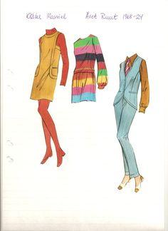 Swedish paper doll of Massiel's clothes, 1968