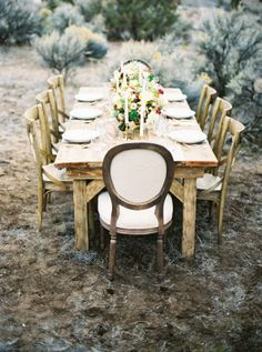 Simple, organic wedding inspiration | photo by Justin Tearney Photo | 100 Layer Cake