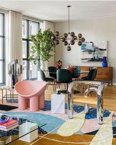 Colorful Interior Design, Modern Interior Design, Interior Design Inspiration, Bohemian Interior Design, Interior Colors, Furniture Inspiration, Interior Ideas, Home Design, Home And Deco