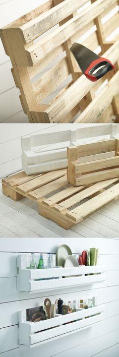 DIY, originales y resistentes estantes a partir de un palet.