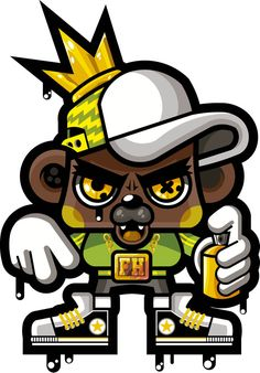 hIP HOP HOP BEAR by Frankie Hipnosis , via Behance